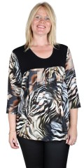 Studio Clothing - Bluse in grafik/animal druck