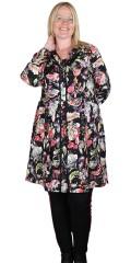 Adia Fashion - Smuk blomstret viscose skjorte kjole