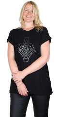 Adia Fashion - T-shirt with rivets