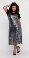 ONLY Carmakoma - Vendi strap glimmer kjole
