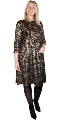Zhenzi - Fado party kjole med guld print