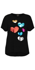 No. 1 by Ox - T-shirt hearts tryck