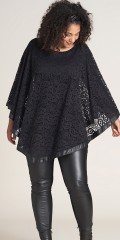 Studio Clothing - Poncho blonde genser