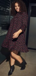 ONLY Carmakoma - Spotted tunica dress