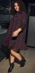 ONLY Carmakoma - Prikket tunika kjole