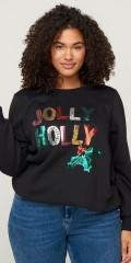 Zizzi - Sweatshirt with christmas motif
