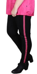 Adia Fashion - Hose in 2 qualitäten mit pink band