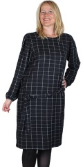 ONLY Carmakoma - Knee long chequered dress