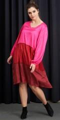 Adia Fashion - Pink Übergröße Kleid