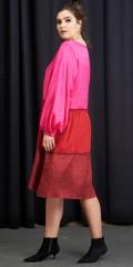Adia Fashion - Rosa oversize klänning