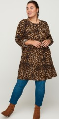 Zizzi - Leopard tunica dress