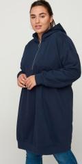 Zizzi - Sweat dress/ lang hoodie