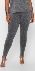 ONLY Carmakoma - Silver glimmer leggings