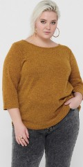 ONLY Carmakoma - Martha mottled knit blouse