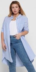 ONLY Carmakoma - Viggi striper lang skjorte
