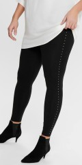ONLY Carmakoma - 7/8 leggings med nitter