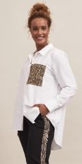 Aprico - Long shirt with animalprint