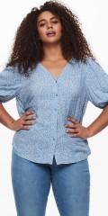 ONLY Carmakoma - Lolli blumengemustert Hemd