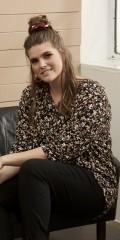 Zhenzi - Cayla flower blouse