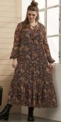 Zhenzi - Chiffon kjole med blomsterprint