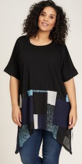 Studio Clothing - Tine tunic med grafiskt tryck