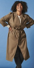 ONLY Carmakoma - Line long trenchcoat