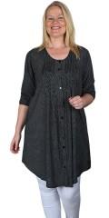 Gozzip - Tove skjorte/tunika med hvite prikker