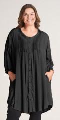 Gozzip - Tove skjorte/tunika med hvide prikker