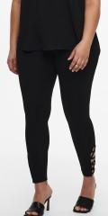 ONLY Carmakoma - Kelly 7/8 legging med kryss bånd