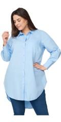 Zizzi - Mjala, lang storskjorte