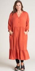 Gozzip - Tove lang gepunktet Hemd Kleid