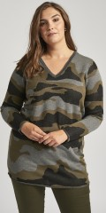 Adia Fashion - Camouflage knit pullover