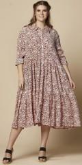Zhenzi - Mossy blumengemustert Kleid