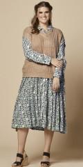 Zhenzi - Mossy blomstrad klänning