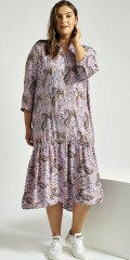 Adia Fashion - Lavendel kjole med trykk