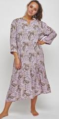 Adia Fashion - Lavendel Kleid mit Druck