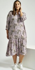 Adia Fashion - Lavendel kjole med print