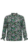 ONLY Carmakoma - Anemony Bluse/blumengemustert Hemd