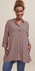 Aprico - Striped long shirt