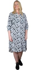 Choise - Smart viscose dress with bombs