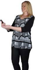 Choise - Pelunia blouse with graphic print