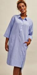 Aprico - Long shirt with discrete stripes