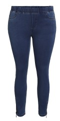 CISO - Great denim 7/8 jeans with zipper in the legs