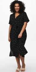 ONLY Carmakoma - Dot skjorte kjole