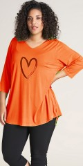 Studio Clothing - Stine Bluse orange