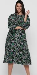 ONLY Carmakoma - Blomstrad lång klänning