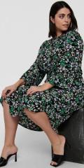 ONLY Carmakoma - Blumengemustert lang Kleid
