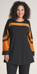 Studio Clothing - Andrea tunika med orange