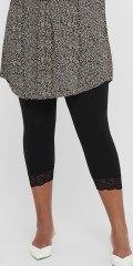 ONLY Carmakoma - Time lace Leggings mit Spitzenkante