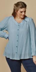 Zhenzi - Thea crepe skjorte